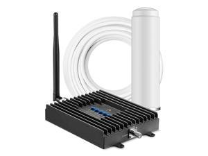 Fusion4Home Cell Phone Signal Booster for Home and Office | Verizon, AT&T, Sprint, T-Mobile 3G, 4G and LTE | Covers up to 2000 sq ft, Fusion4Home Omni/Whip (SC-PolyH-72-ORA-Kit)