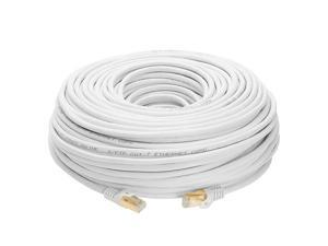 S/FTP CAT 7 Gold Plated Shielded Ethernet RJ45 Copper Cable 10 Gigabit Ethernet Network Patch Cord Cat7 (100ft, White)