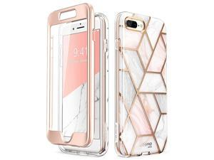 Cosmo Glitter Clear Bumper Case for iPhone 8 PlusiPhone 7 Plus Marble
