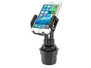 Car Cup Holder Mount Adjustable Smart Phone Cradle for iPhone 11 Pro XR XS Max X 8 Plus 7 SE Samsung Note 10 + 9 Galaxy S20+ Ultra S10+ S9 A71 A51 A21 A11LG Stylo 6 V60 Moto z4 edge+ e6 PH600