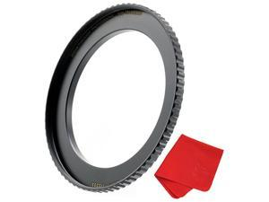 55mm to 62mm StepUp Lens Adapter Ring for Filters Made of CNC Machined Brass with Matte Black Electroplated Finish