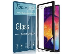 3Pack for Samsung Galaxy A50 Screen Protector Tempered Glass HD Clarity Touch Accurate 9H Hardness + Easy Installation Tray with Lifetime Replacement Warranty