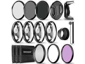 58MM Complete Lens Filter Accessory Kit for Lenses with 58MM Filter Size UV CPL FLD Filter Set + Macro Close Up Set +1 +2 +4 +10 + ND Filter Set ND2 ND4 ND8 + Other