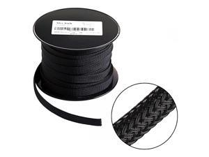 100ft 12 inch PET Expandable Braided Sleeving Black  braided cable sleeve