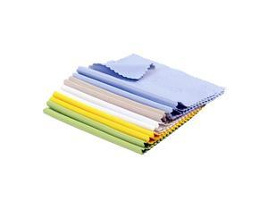 10pcs Microfiber Cleaning Polishing Cloths for LCD Screen of Electronic Devices and Glasses Optics etc in Retail Packaging