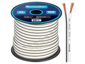 14 Gauge AWG 100ft Speaker Wire Cable White