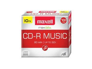 625133 1Time Recording Recordable CD Audio Only 700mb80 Min 10 Pack Slim Jewel