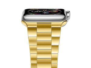 Compatible with Apple Watch Band 40mm 38mm Upgraded Version Solid Stainless Steel Band Business Replacement iWatch Strap for Apple Watch Series 654321SE Yellow Gold