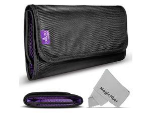 Pocket Filter Wallet Case for Round or Square Filters + Premium MagicFiber Microfiber Cleaning Cloth