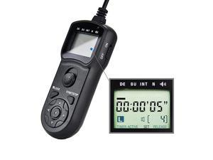 Intervalometer Timer Remote Control Shutter Release for Canon EOS Rebel T6 T7 90D 80D 70D 60D 60Da 77D T8i T7i T6i T6s SL3 SL2 T5i T4i T3i T2i T1i Xsi EOS RP R M6 Mark II M5 and more Canon Cameras