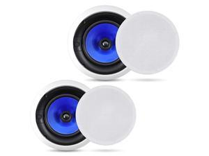 2Way InWall InCeiling Speaker System Dual 8 Inch 300W Pair of Ceiling Wall Flush Mount Speakers w 1 Silk Dome Tweeter Adjustable Treble Control For Home Theater Entertainment  PIC8E
