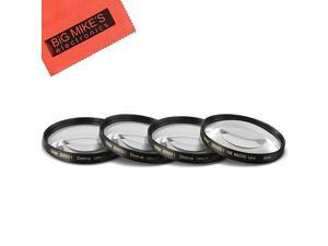 CloseUp Filter Set +1 2 4 and +10 Diopters Magnificatoin Kit for Canon Rebel T5 T6 T6i T7i EOS 80D EOS 77D Cameras with Canon EFS 1855mm f3556 is II is STM Lens