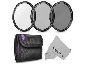 62MM  Professional Photography Filter Kit UV CPL Polarizer Neutral Density ND4 for Camera Lens with 62MM Filter Thread + Filter Pouch