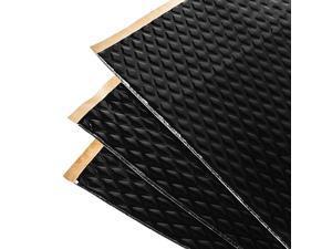 Black 80 Mil 36 Sq Ft Car Sound Deadening butyl automotive deadener restoration mat and Noise dampening insulation