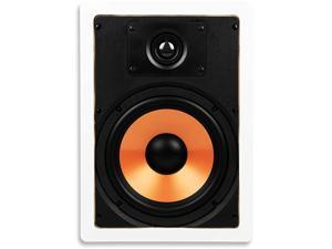 """M-8S 8 Inch 2-Way in-Wall Speaker with Pivoting 1"""" Silk Dome Tweeter (Each, White)"""