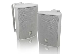 LU43PW 3Way High Performance Outdoor Indoor Speakers with Powerful Bass   Effortless Mounting Swivel Brackets   All Weather Resistance   Expansive Stereo Sound Coverage   Sold in PairsWhite