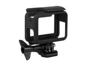 Frame Compatible with GoPro Hero 76 5 Hero 2018 Housing Border Protective Shell Case Accessories for Go Pro Hero7 Hero6 Hero5 Black with Quick Pull Movable Socket and Screw Black
