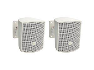 Control 52WH SurfaceMount Satellite Speaker for SubwooferSatellite Loudspeaker System White Sold as Pair