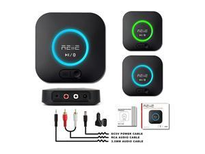 Bluetooth Receiver,HiFi Wireless Adapter,Bluetooth 4.2 Receiver with 3D Surround AptX Low Latency for Home and Car Music Stereo Streaming (Pair 2 at Once)