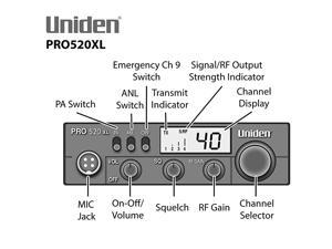 PRO520XL Pro Series 40Channel CB Radio Black TruckSpec TS18CC 18 RG58AU Coaxial Cable with Pl259 Connectors