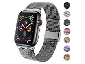 Compatible for Apple Watch Band 38mm 40mm 42mm 44mm Wristband Loop Replacement Band for Iwatch Series 4Series 3Series 2Series 1Space Gray38mm40mm