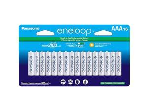 Panasonic BK-4MCCA16FA  AAA 2100 Cycle Ni-MH Pre-Charged Rechargeable Batteries, 16 Pack