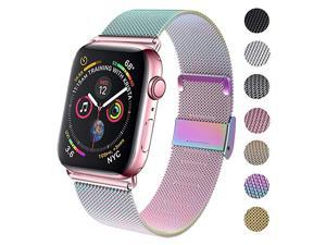 Compatible for Apple Watch Band 38mm 40mm 42mm 44mm Wristband Loop Replacement Band for Iwatch Series 4Series 3Series 2Series 1Colorful38mm40mm