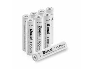 1100mAh AAA Rechargeable Batteries 1.2V Ni-MH High-Capacity Batteries 8 Pack