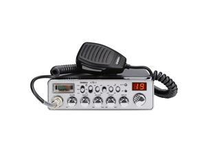 PC78LTX 40Channel Truckers CB Radio with Integrated SWR Meter PA Function Hi Cut MicRF Gain and Instant Channel 9Silver