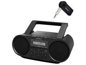 Sony Bluetooth Portable Cd Player Stereo Sound System BundleDigital Tuner AMFM Radio Cd Player Mega Bass Reflex Stereo Sound System Included A  Wireless Bluetooth Receiver
