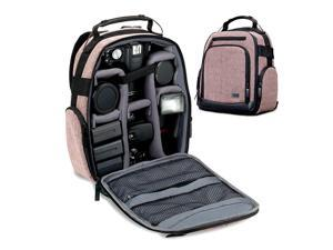 Portable Camera Backpack for DSLR Brown with Customizable Accessory Dividers Weather Resistant Bottom and Comfortable Back Support Compatible with Canon Nikon and More