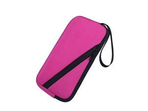 Soft Carrying Pouch Sleeve Case Neoprene Bag Cover for Texas Instruments TI-83 TI-89 TI-84 Plus C Silver Edition Casio Graphing Calculator (Rose)