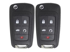 Replacement for New Keyless Remote 5 Button Flip Car Key Fob for Vehicles That Use FCC OHT01060512 (2 Pack)
