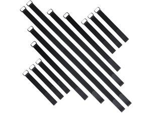 Cable Straps 12 pcs 12 18 24 36 and Reusable Fastening Nylon Cinch Straps Hook and Loop Cord Organizer