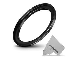 Photo 5867MM StepUp Ring Adapter 58MM Lens to 67MM Filter or Accessory + Premium MagicFiber Cleaning Cloth