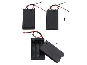 Pack of 3 3 AAA Battery Holder with Switch 45V Battery Holder with Switch 3X 15V AAA Battery Holder with Leads and Switch