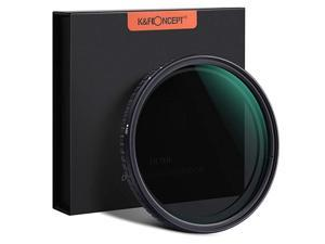77mm ND8 to ND128 Variable Neutral Density Filter Slim Fader ND Filter 77mm 3-Stop to 7-Stop for Camera Lens NO X Spot,Nanotec,Ultra-Slim,Weather-Sealed