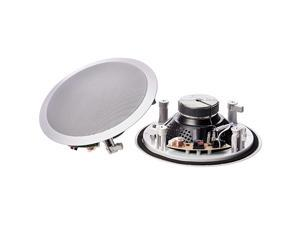 8quot Round InCeiling InWall Mounted Speakers Set of 2