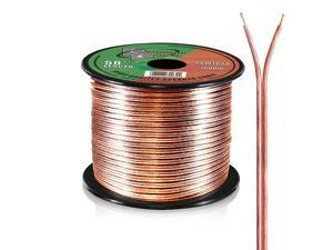 50ft 16 Gauge Speaker Wire - Copper Cable in Spool for Connecting Audio Stereo to Amplifier, Surround Sound System, TV Home Theater and Car Stereo -  RSW1650,BLACK