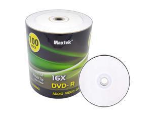 Premium Grade White Inkjet HUB Printable DVD-R DVDR 16x Blank Disc, 4.7GB, 120min. 100 Pcs Pack.