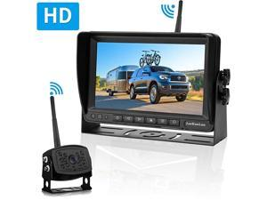 LK5 HD 1080P RV Wireless Backup Camera with 7'' DVR Monitor High-Speed Observation Rear View Camera System for RV,Trailer,Truck,Camper,IP 69 Waterproof Camera IR Night Vision