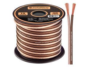 12 Gauge AWG 30ft Speaker Wire 99.9% Oxygen-Free Copper True Spec and Soft Touch Cable - Brown