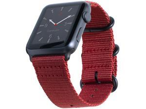 Compatible Apple Watch Bands 42mm 44mm XL Nylon NATO Replacement iWatch Band Extra Large Wrists X Long Red Woven Canvas Strap Compatible Apple Watch Series 4 3 2 1 Sport 42 44 XXL Red