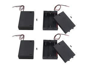 Pack of 4 3 AA Battery Holder with Switch 45V Battery Holder with Switch 3X 15V AA Battery Holder with Leads and Switch