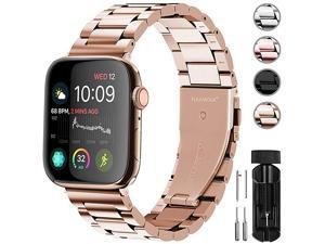 Compatible Apple Watch Band 44mm 40mm 38mm 42mm Stainless Steel Metal for Apple Watch Series 5 4 3 2 1 Bands 42mm 44mm Series 4 Gold
