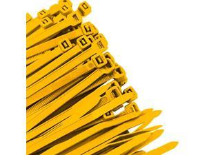 YL11SD100 118Inch Yellow Standard Duty Color Cable Tie Yellow Nylon 100Pack