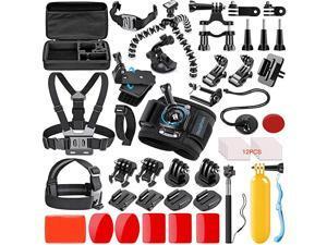 42in1 Action Camera Accessorries Kit Mount for GoPro Hero 8 Max 7 6 5 4 3 3+ 2 1 Black GoPro 2018 Session Fusion Silver Insta360 DJI AKASO APEMAN YI Campark SJCAM XIAOMI Carrying Case
