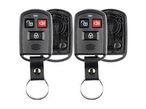 Keyless Entry Remote Key Fob Case Shell Button Pad Cover Leather Strap For Hyundai Kia Pack of 2