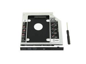 Silver Nimitz 2nd HDD SSD Hard Drive Caddy for HP Pavilion 15-AU Series with Bezel//Bracket