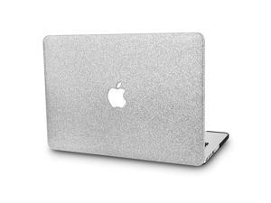 Laptop Case Compatible with Old MacBook Pro 13 CD Drive Plastic Case Hard Shell Cover A1278 Silver Sparkling